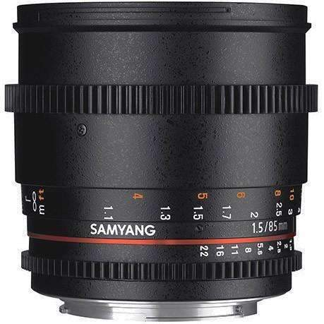 Samyang 85mm T1.5 AS IF UMC II Cine Lens (Full Frame Canon EF-Mount) - Samyang - KAMERAZ (11422009671)