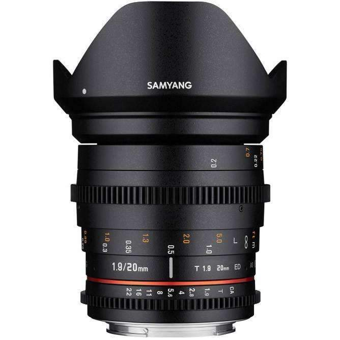 Samyang 20mm T1.9 ED AS IF UMC Cine Lens (Canon) - Samyang - KAMERAZ (11422216711)