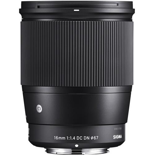 Sigma 16mm f/1.4 DC DN Contemporary Lens for Sony E (755795591267)