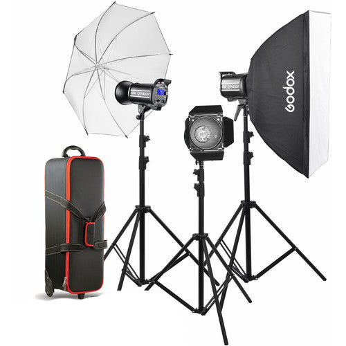 Godox Gemini GS400II 3x Light Studio Kit