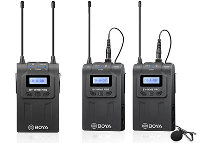 Boya BY-WM8 Pro-K2 UHF Dual-Channel Wireless Microphone System (1474868084835)