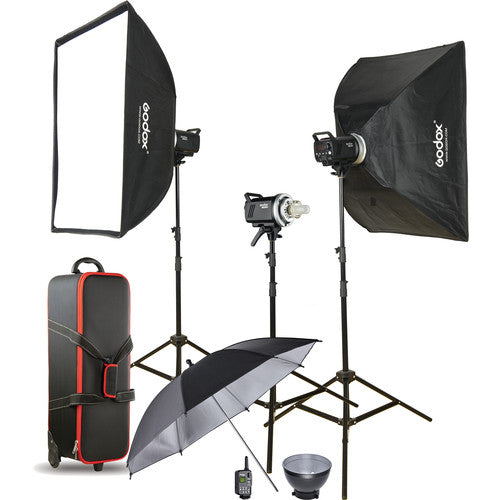 Godox MS300-D Studio 3x Monolight Kit (4022696771683)