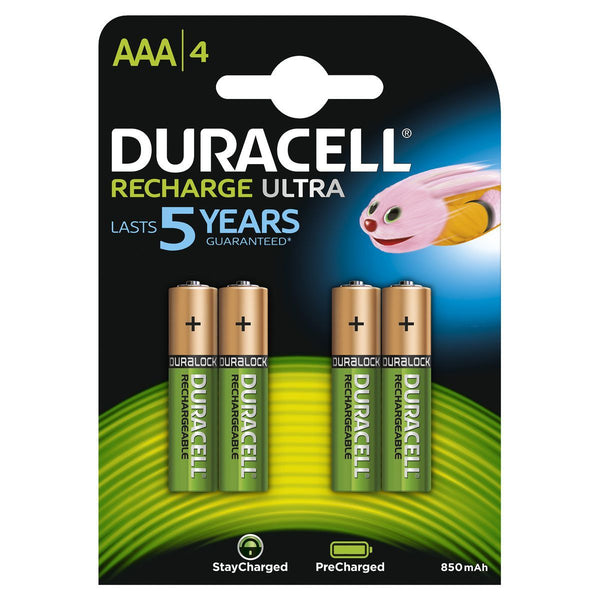 Duracell 800 Mah StayCharged Rechargeable AAA Batteries (780170330211)