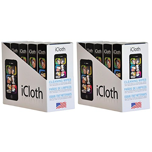 iCloth Screen Cleaner - Regular size for Optical Clarity on a Laptop, a Chromebook, a Tablet, a Nintendo Switch, a Smartphone, and other small electronics | iC30x10 | Team pack of 10 x 30 wipe boxes
