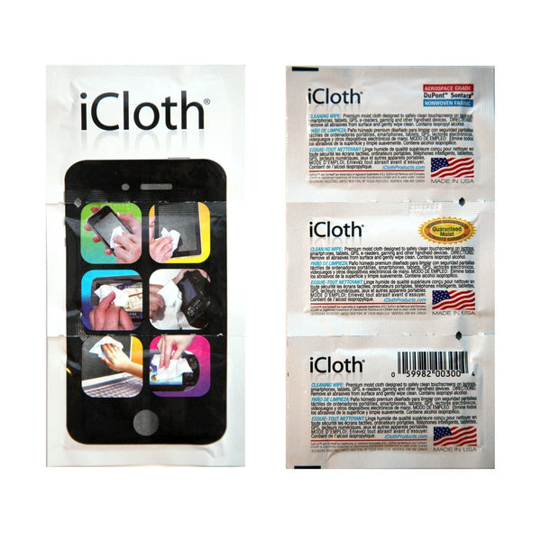 iCloth Touchscreen Cleaning Wipes - iC100 (100 pre-moistened individual wipes) - Performance guaranteed