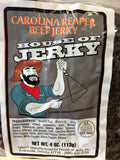 all natural beef jerky make with the hottest Pepper Carolina Reaper pepper