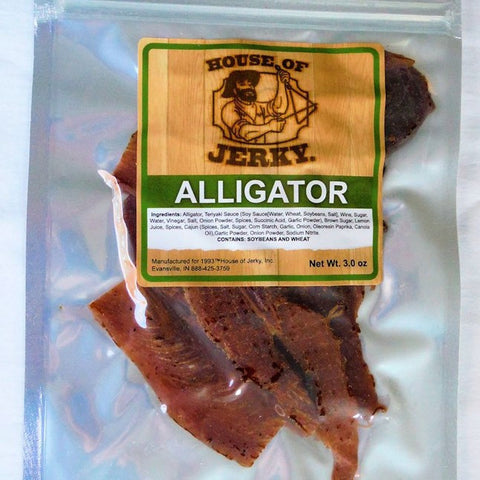 Lean Alligator Jerky Exotic Meats
