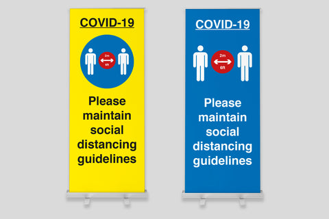 COVID-19 Essential Roller Banner Stand