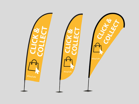 COVID-19 Essential Single Sided Flags