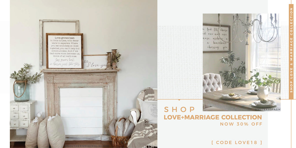 Smallwood Home - Wood Framed Signboard Collection - Love + Marriage