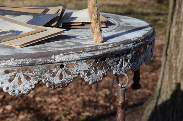 Hanging Metal Rustic Table