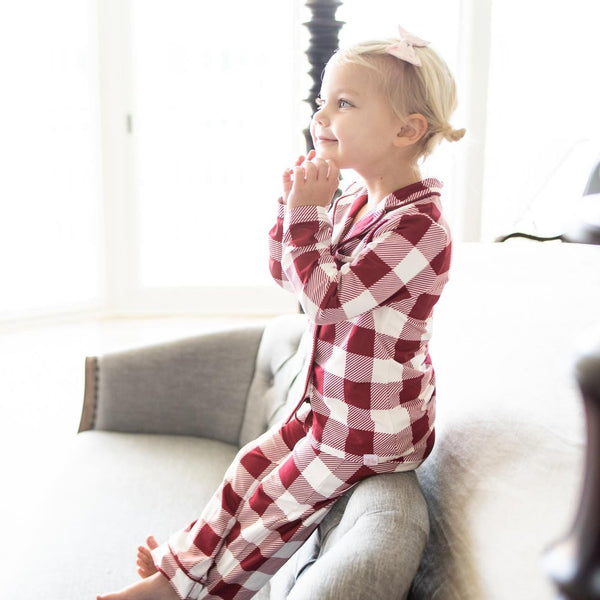 SweetHoney - Girls Cozy PJs - Checkered