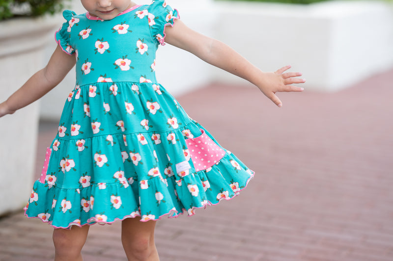 SweetHoney - Flair Dress - By the Sea