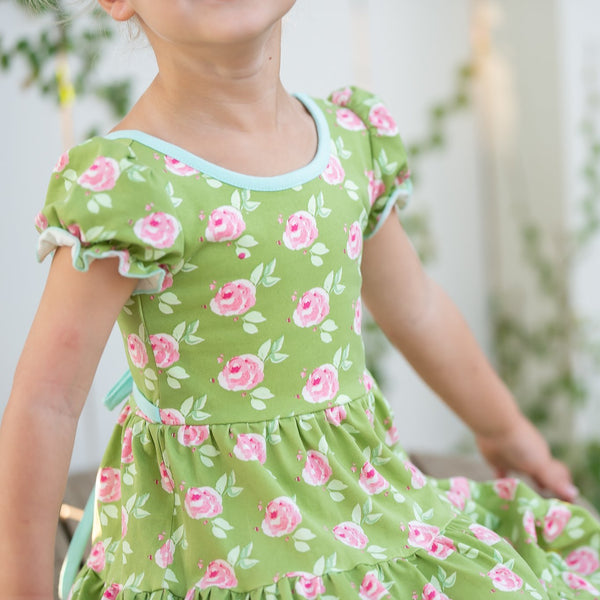 SweetHoney - Flair Dress - Green Garden