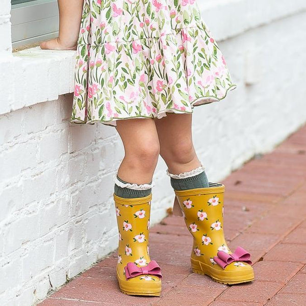 SweetHoney - Cheery Rain Boots - Floral Spec