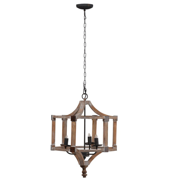 Wood and Iron Chandelier