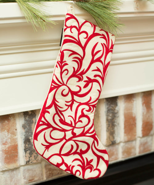 Smallwoods - SEASONAL - Red and White Christmas Stockings