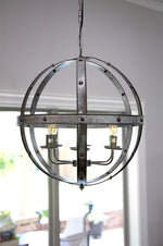 Iron Orbit Chandelier