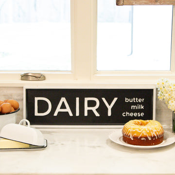 Metal Sign - Dairy