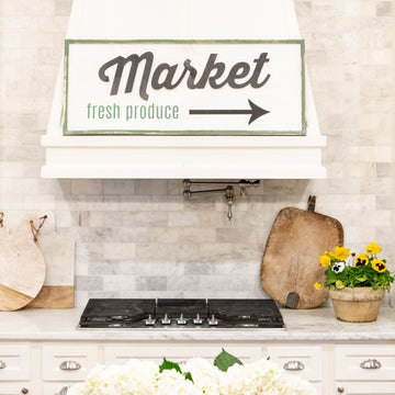 Vintage Wooden Sign - Market Fresh Produce