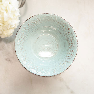 Rustic Flare Large Serving Bowl, Blue