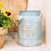 Galvanized Milk Pail - Aqua
