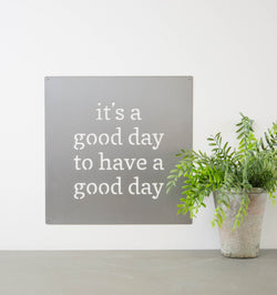Metal Wall Art - Good Day