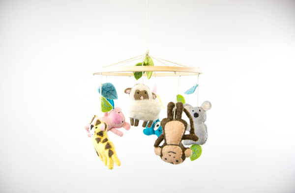 Felt Animal Mobile with Gift Box
