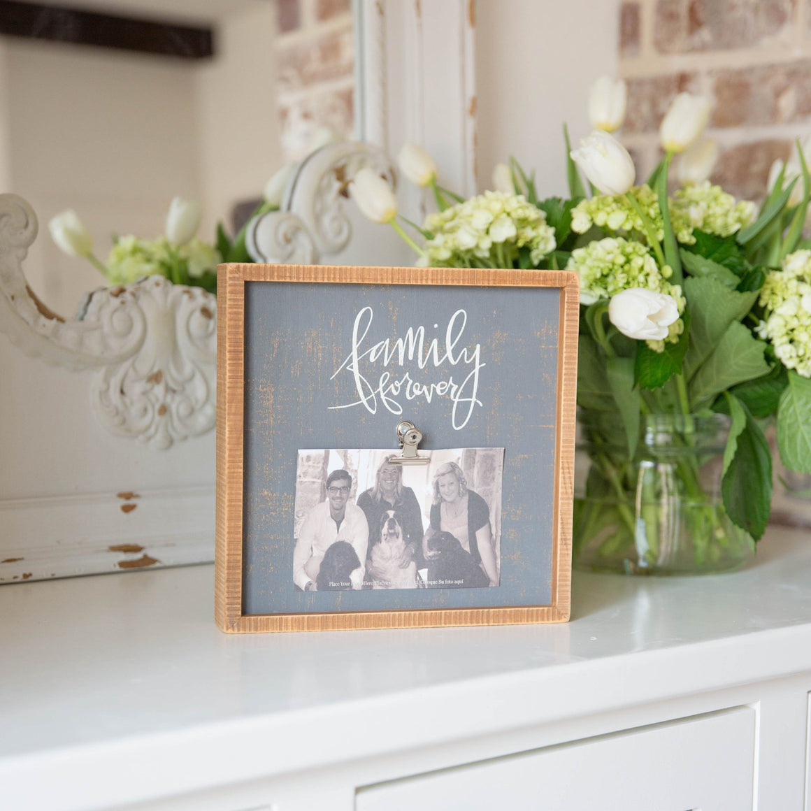 Wooden Sign Photo Frame - Family