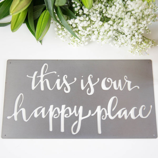 Metal Wall Art - Happy Place