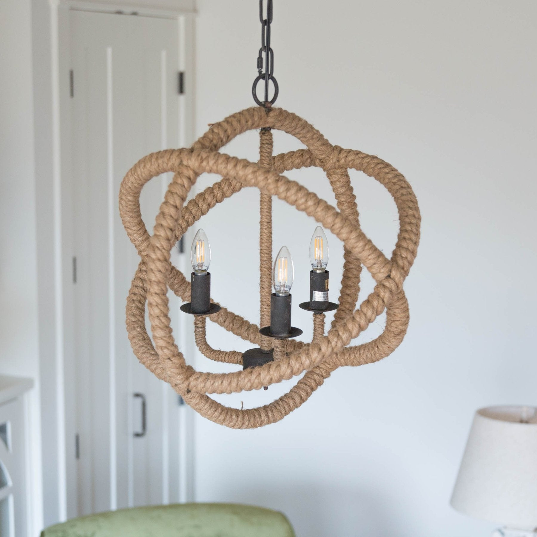 Whimsical rope iron chandelier smallwoods whimsical rope iron chandelier mozeypictures Images