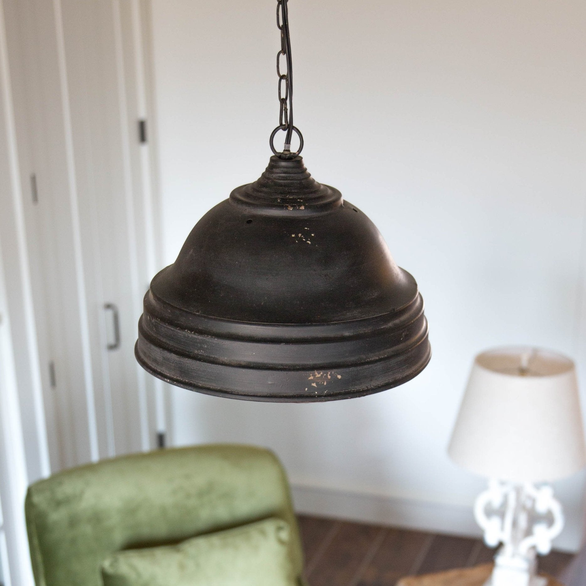 Antiqued Wood Chandelier Smallwood Home