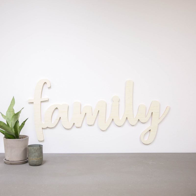 Wood Cutout - Family