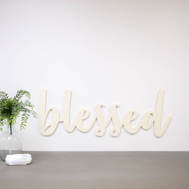Wood Cutout - Blessed