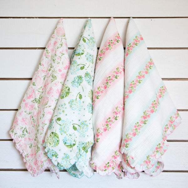SweetHoney - Swaddle Blanket - Soft Hydrangea
