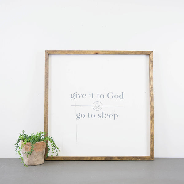 Go To Sleep - Square Wood Sign
