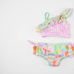 SweetHoney - Mia Crop Tankini - Splash FINAL SALE