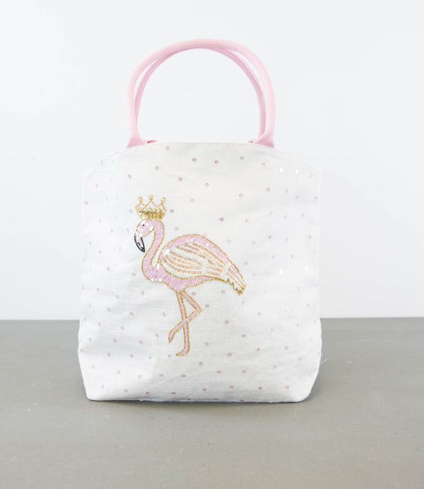 Pink Flamingo Sequin Bag