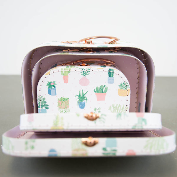 Cactus Suitcases - Set of 3