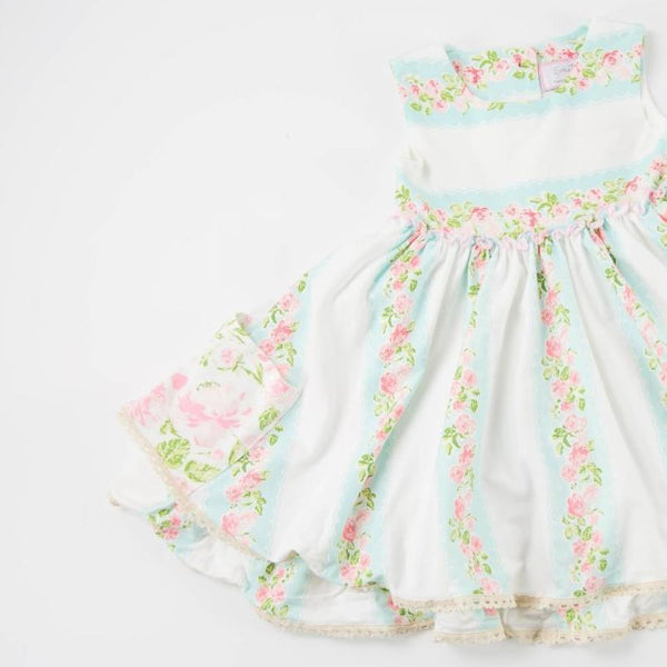 SweetHoney - Hazel Dress - Mint Scallop - FINAL SALE