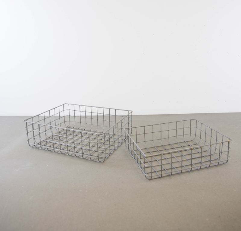 Nested Wire Sorting Baskets Set of 2