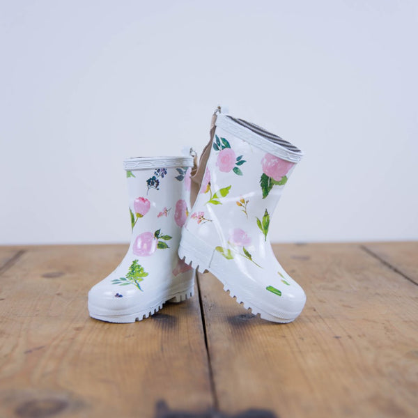 SweetHoney - Cheery Rain Boots - Flower Drip - FINAL SALE