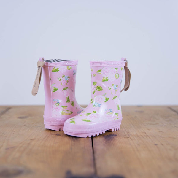 SweetHoney - Cheery Rain Boots - Spring Bouquet - FINAL SALE