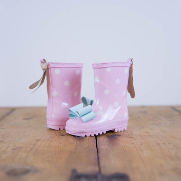 SweetHoney - Cheery Rain Boots - Pink Dot