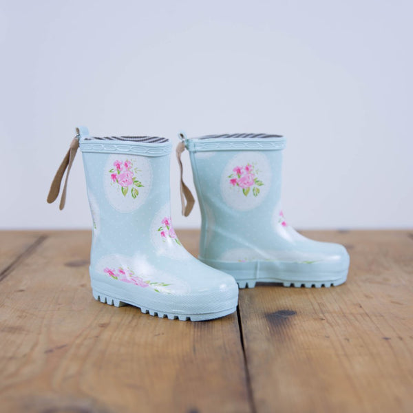 SweetHoney - Cheery Rain Boots - Framed Roses - FINAL SALE