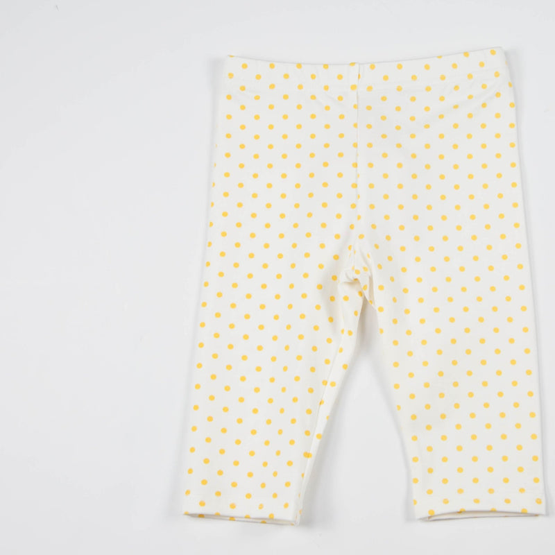 SweetHoney - Bicycle Capris - Maize Dot