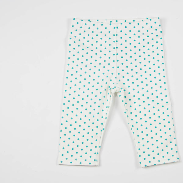 SweetHoney - Bicycle Capris - Teal Dot