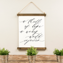 Canvas Hanging Print - A Thrill of Hope [Script]