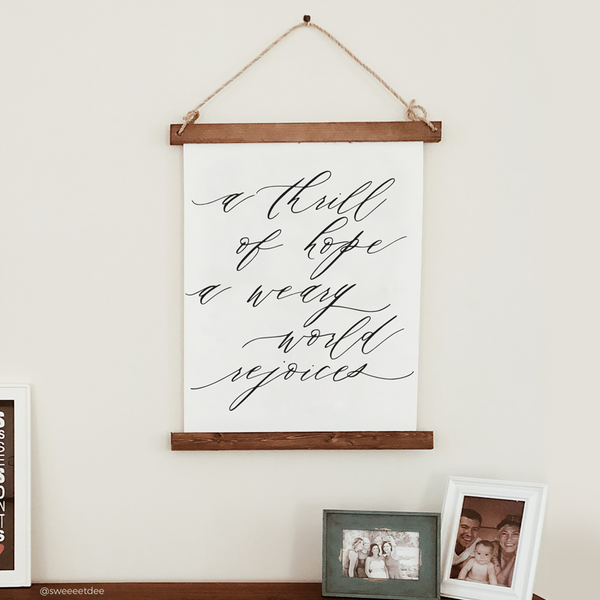 Canvas Hanging Print - A Thrill of Hope [Script] [HOLIDAY]