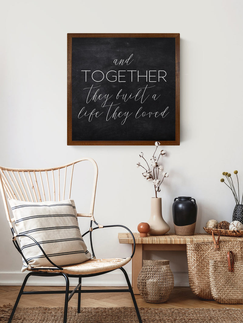 Wood Framed Signboard - Together